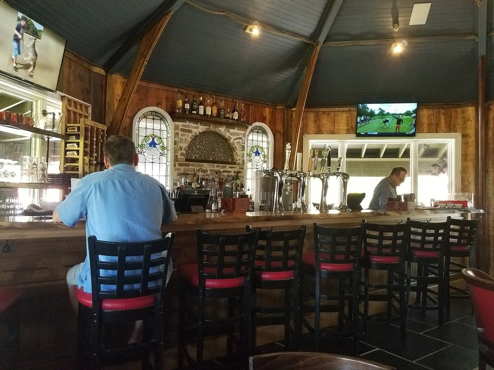 The bar at the Mill House