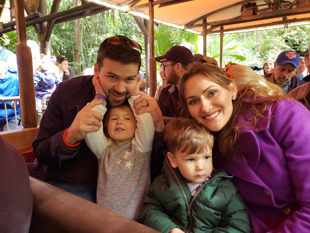 Matt, Lisa, Lyla and Miles on the Safari ride