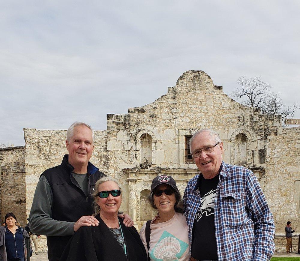 Mike, Lydia, Caroline and Bob at The Alamo