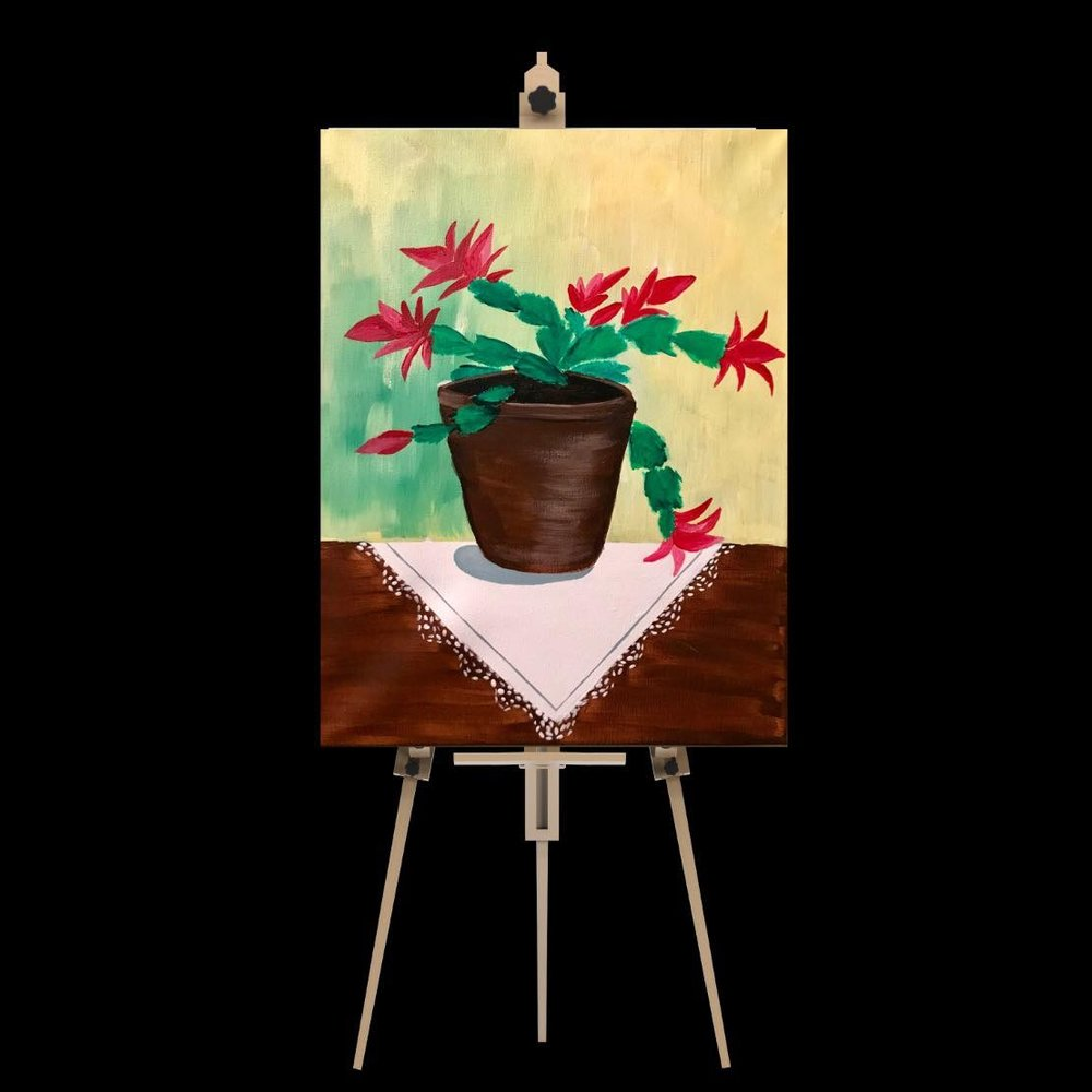 "Saturday December 15th 5:00pm-7:30pm ""Christmas Cactus"""
