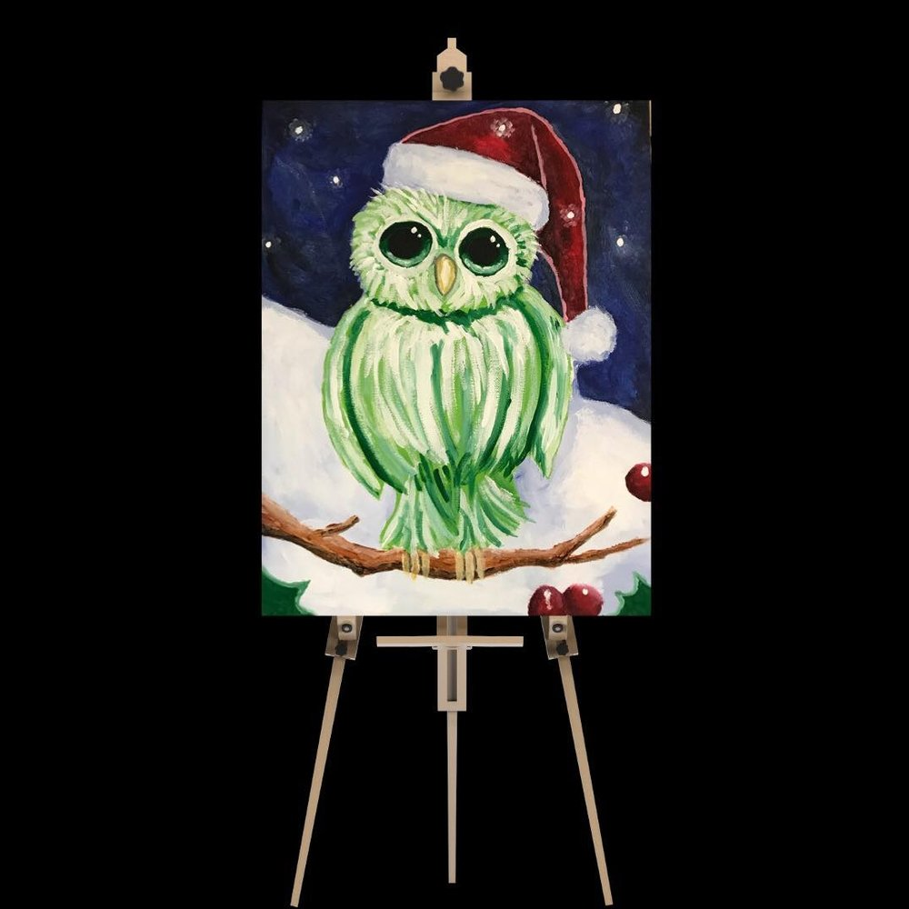 "Saturday December 22nd 5:00pm-7:30pm ""Christmas Owl"""