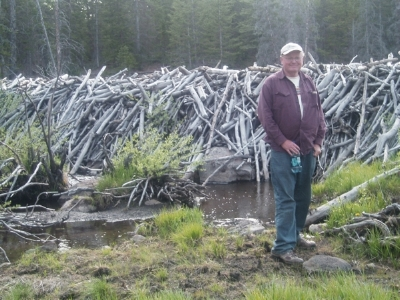 Jim Catlin, Wild Utah Project Founder, in front of beaver dam complex