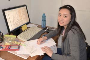 GIS intern, Vivian Chan, developing habitat maps
