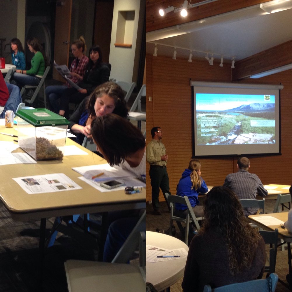 "Volunteers attend our in-class training last week at Hogle Zoo for this summer's central Wasatch amphibian ""Bio-Blitz"". See our    (brand new!) website    for summer citizen science opportunities!"