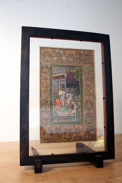 ebony and mahogany wood double-sided frame1_Story_9x13_coirewilliamsart_com.jpg