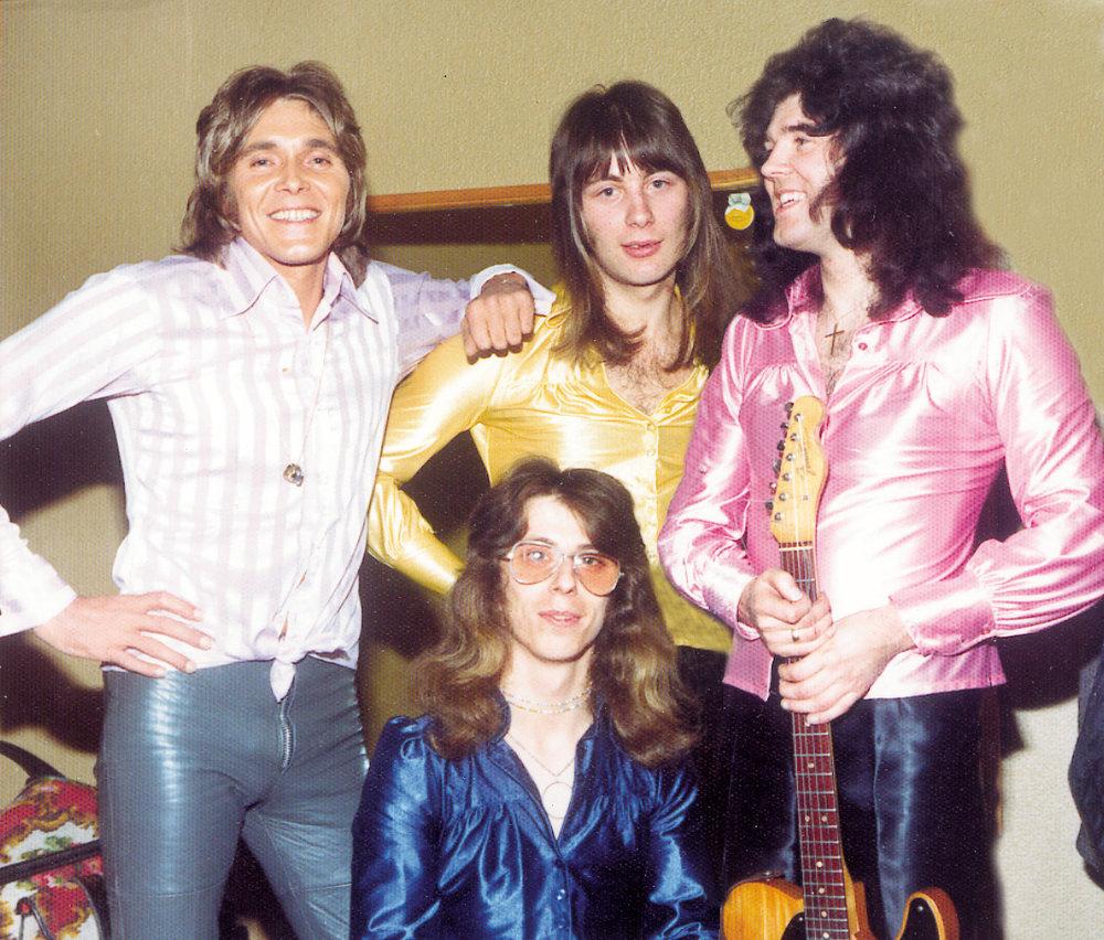 Billy Fury & Furys Tornados - Billy,Charlie Elston,Chris Raynor & [seated] John Raynor 1974.jpg