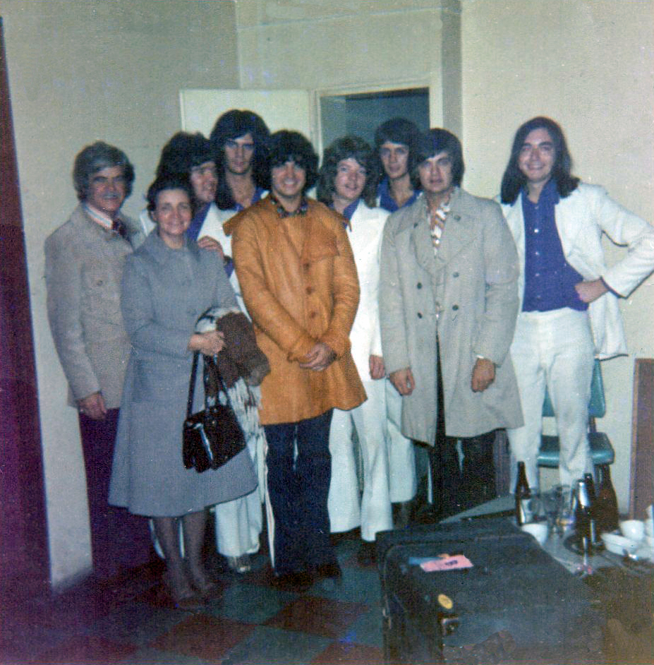 - Chris, third from left, whilst appearing with The Everly Brothers in Germany.