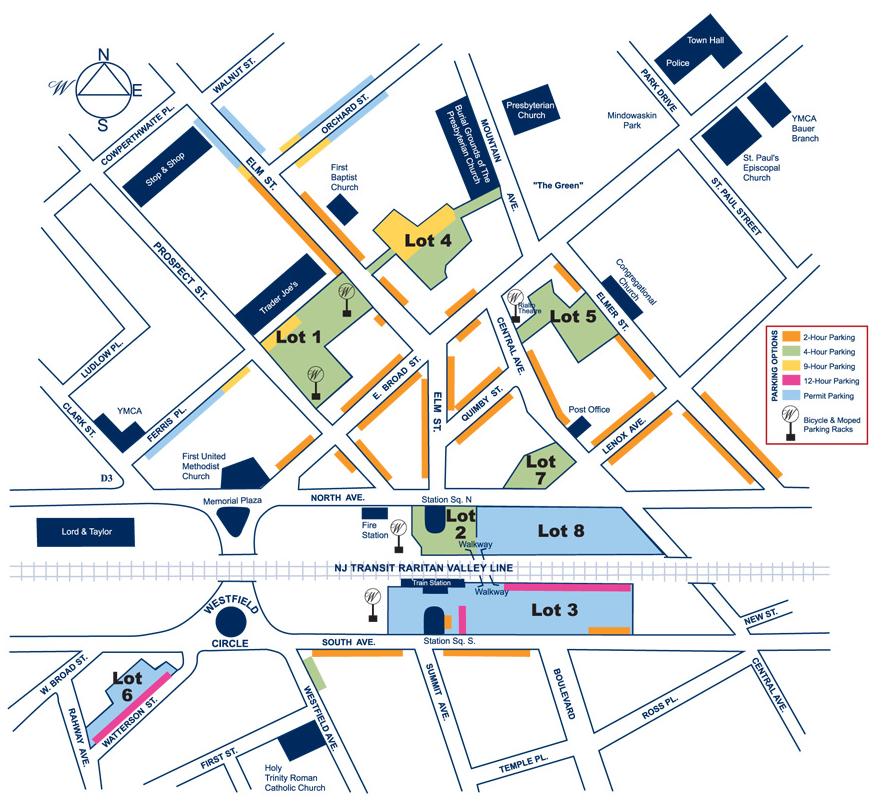 Westfield Parking Map