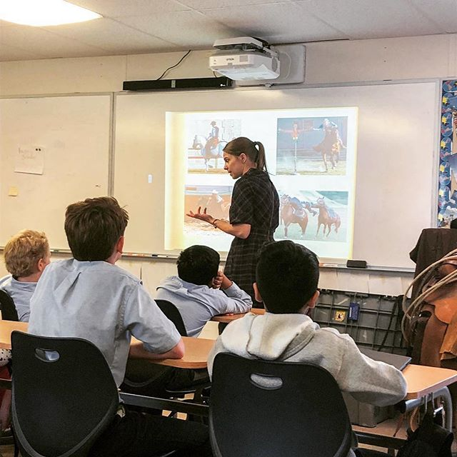 #Repost @steschool ・・・ Dr. Carolyn Willekes gave an interesting presentation to our Middle School students. Her talk on the history of the rodeo ties into both our world history class and @rodeohouston. She kept our students' attention and gave them great information. We look forward every year to hosting Dr. Willekes. Thank you @archaeologynowhouston! . . #archaeology #texas #historyyall #rodeohouston