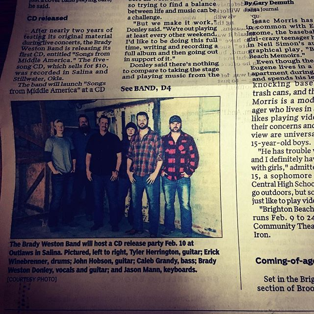 Didn't quite make the cut for booking activity. #jailbirds #salinajournal #countrymusic #cdrelease