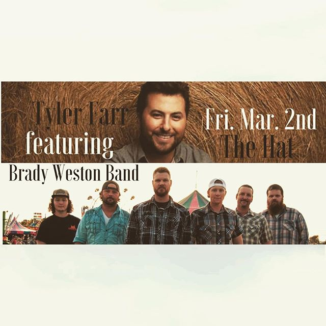 Check us out Mar. 2nd w this duder Manhattan, KS.  #tylerfarr #countrymusic #reddirt
