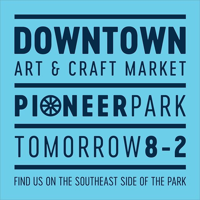 TOMORROW! We'll be at the Downtown farmers market. We'll have a limited number of pioneer themed prints like segos and wagon wheels in celebration of Pioneer Day! Plus new designs we haven't had time to post yet and a discounted bin. Hope to see you there!