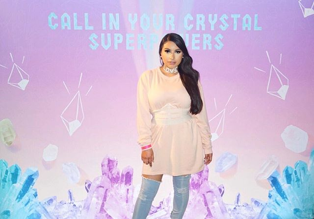 Thank you for inviting me last night @pacificabeauty it was the most beautiful set up and my crystal reading was crazy spot on! 💎 Can't wait to check out the new collection at @ultabeauty #crystalcrush #genbeauty2018 if you're looking for a vegan cruelty free brand @pacificabeauty is worth a look 💋💄