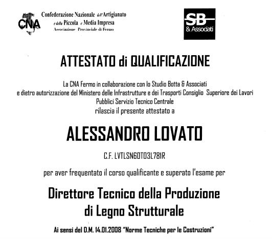 DIRETTORE TECNICO - LEGNO STRUTTURALE
