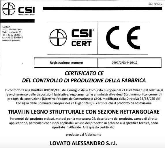 CONTROLLO PRODUZIONE - CSI