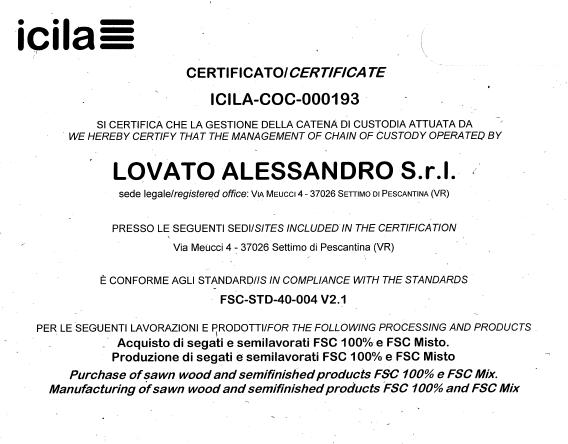 Certificato di Provenienza - ICILA-COC-000193