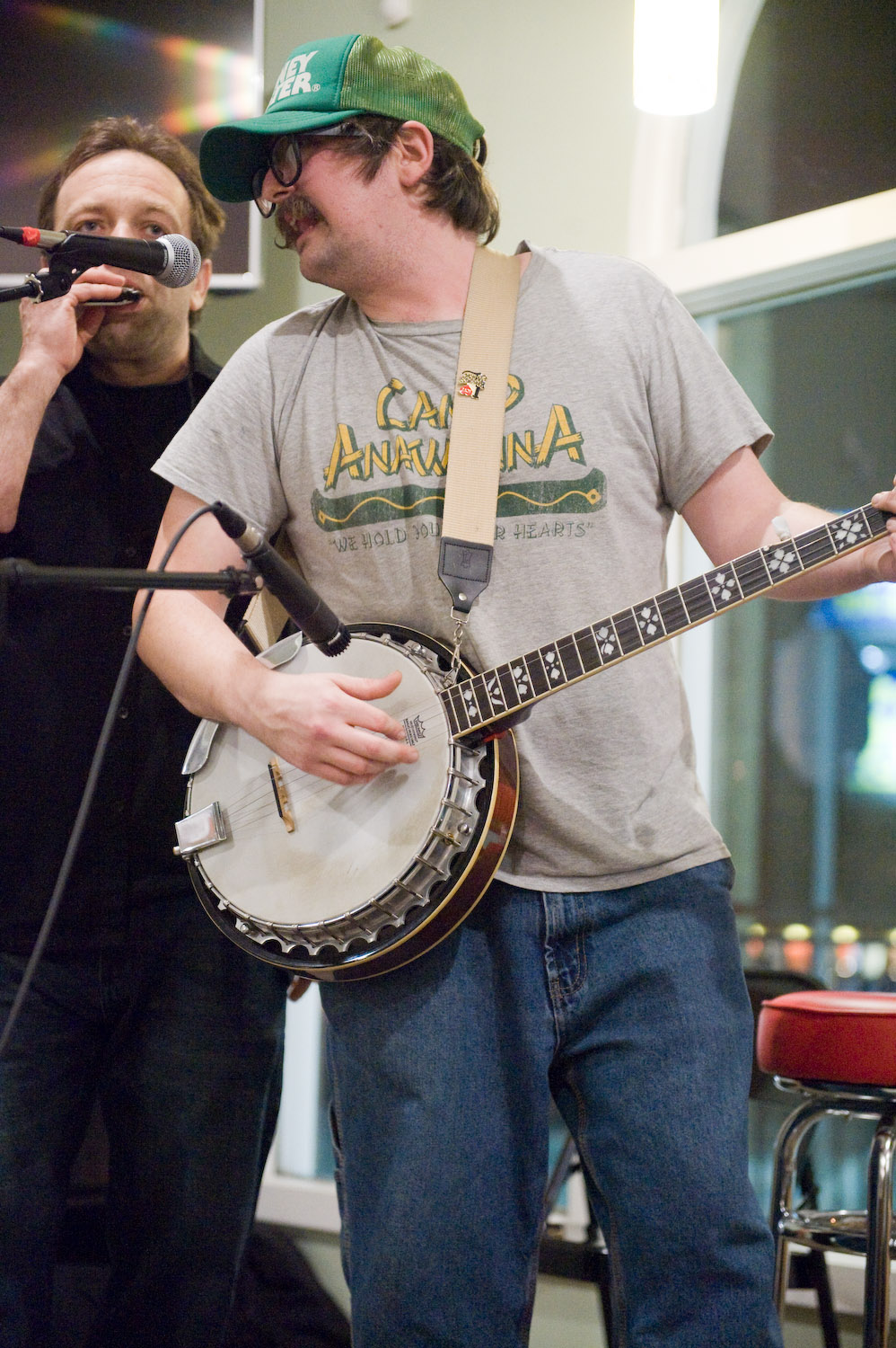 Here, Cody Jones of  The Rescue Rangers  was joined onstage by a friend at a local open mic night. Have you noticed all of the open mic nights are now listed right here in the guide, instead of in a separate link? Check it!