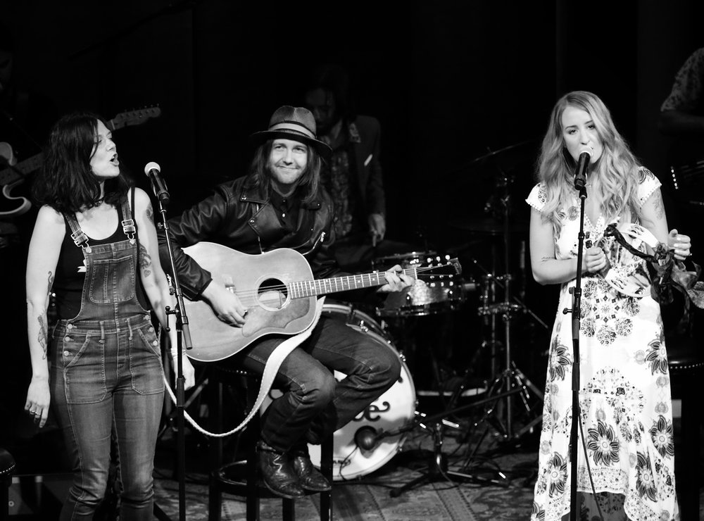 Lilly Hiatt, Aaron Lee Tasjan, and Margo Price, by Chad Cochran