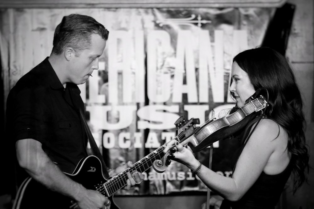 Jason Isbell and Amanda Shires, by Chad Cochran