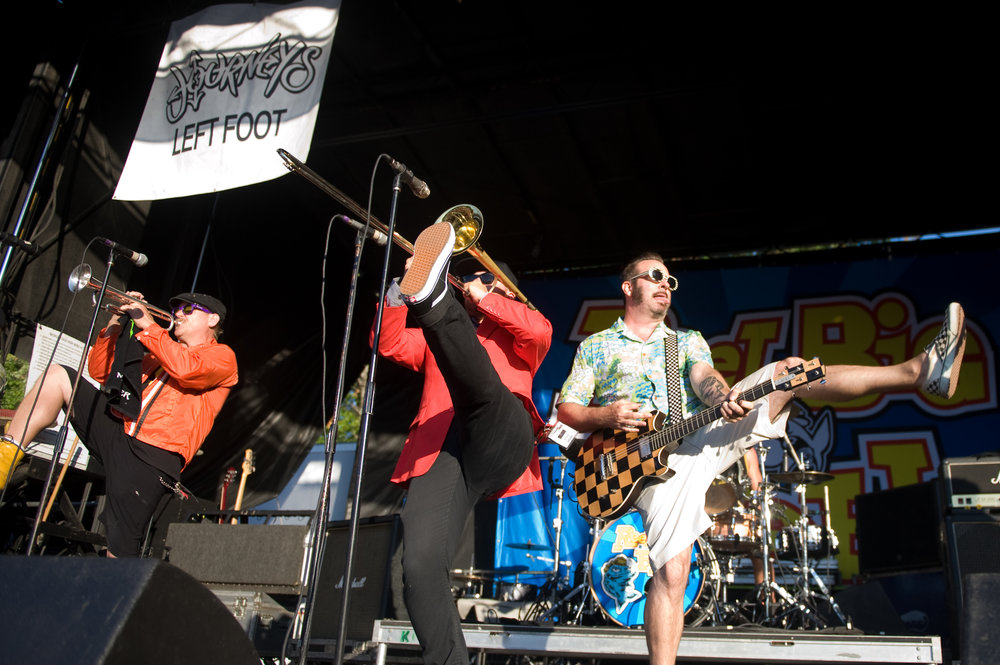 Reel Big Fish  are coming to  The Adelphia  in Marietta this Thursday, along with  Masked Intruder  and  Stacked Like Pancakes . Should be a great, high-energy night. Photo from this year's Warped Tour, by  Michelle Waters .