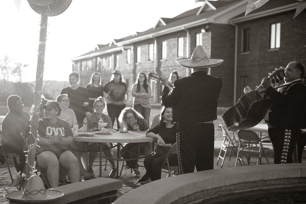 OVU students loved last month's Mariachi performance on their campus. Photo by Michelle Waters.
