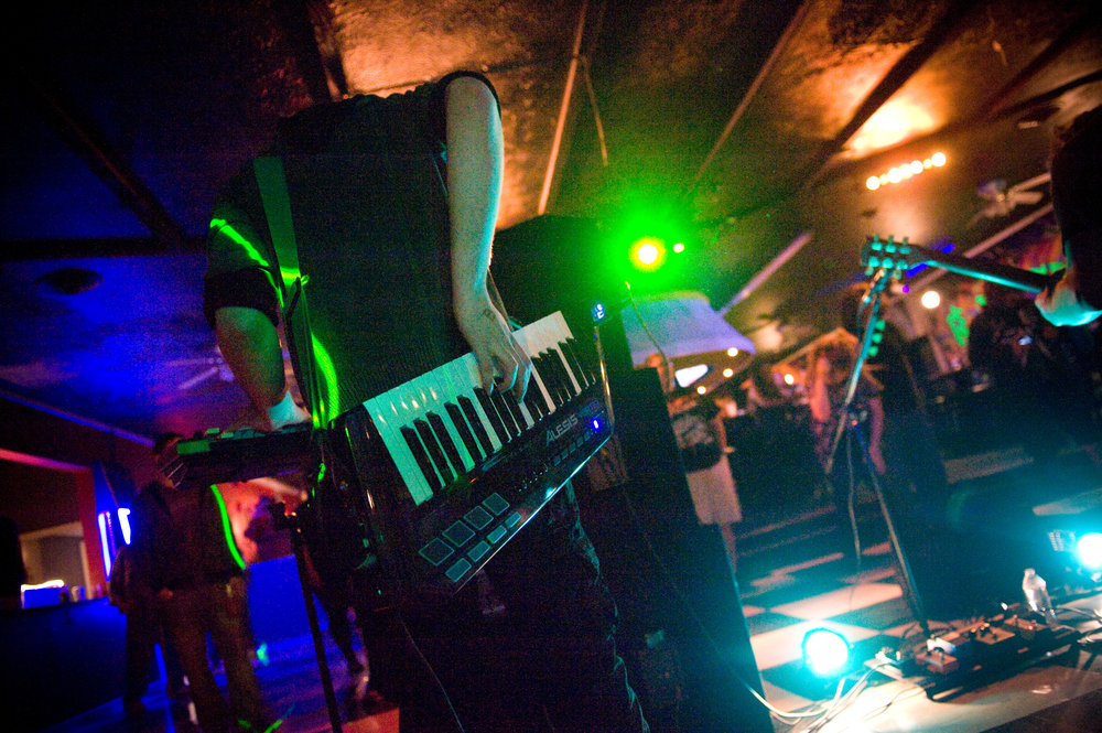 Let Dino Drive (and their keytar) rock your faces off at The Ranch (in Athens), Thursday night. Photo by Michelle Waters.