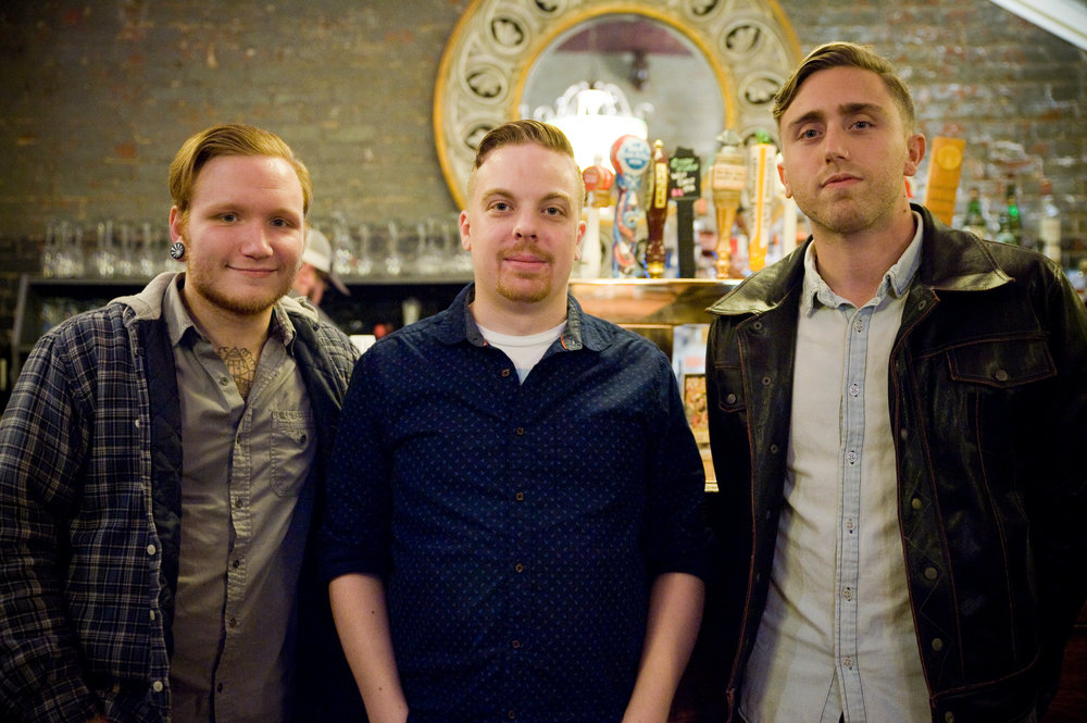 Nathan, Matt and Justin of BadLands, right before their performance at The (marietta, Ohio) Adelphia Music Hall, earlier this month. BadLands was quick to share that The Adelphia has always treated them so well, every time they perform there. Photo by Michelle Waters.