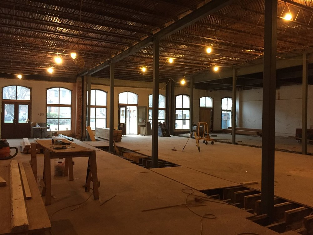 The Next Stage will expand the current space of Stuart's Arts Education Program, allowing even more opportunities for those interested in pursuing and celebrating our creative community. Progress photo provided by Stuart's Opera House.