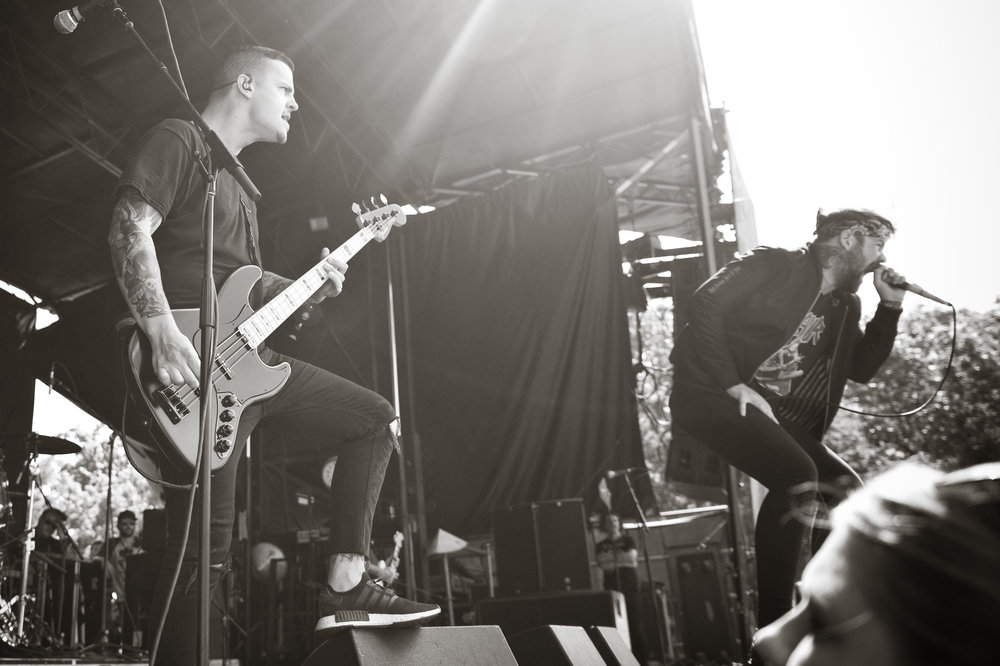 Columbus, Ohio's Beartooth, tearing it up at this year's Warped Tour. Photo by Michelle Waters.