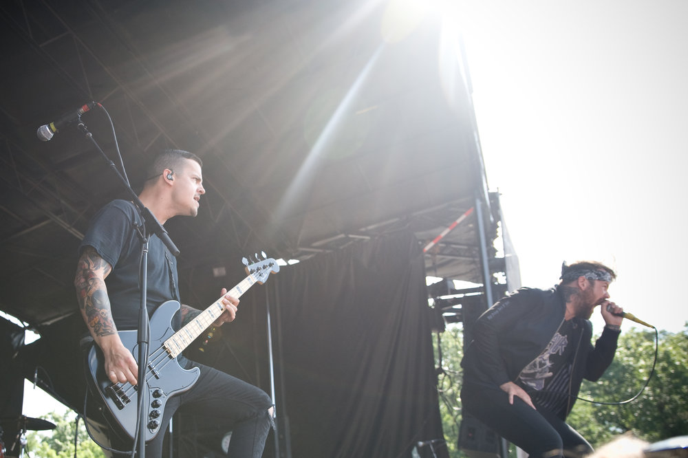Beartooth, performing during this year's Warped Tour. Photo by Michelle Waters.