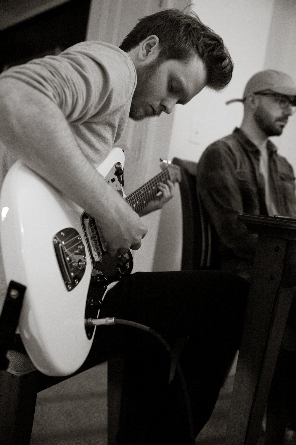 Josh Allen during album recording-photo by Michelle Waters.