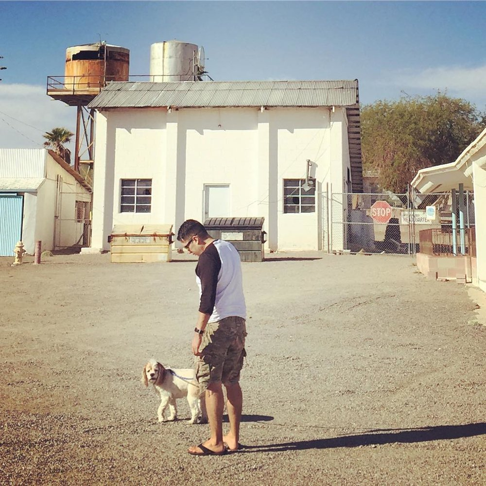 Man and Dog, Amboy, CA