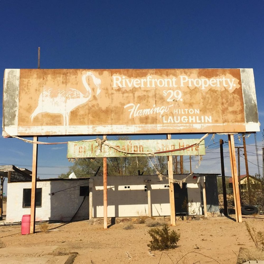 Billboard on Route 66, CA