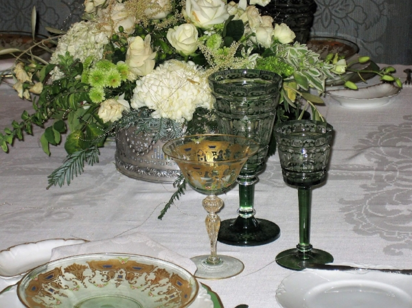 Look at this beautiful stemware!  I love all the intricate details.