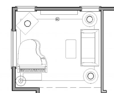 Living Room Furniture Plan