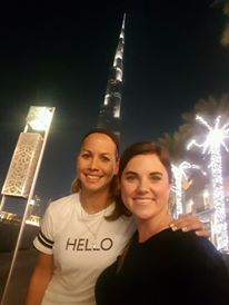 Solo travelers at the Burj Khalifa
