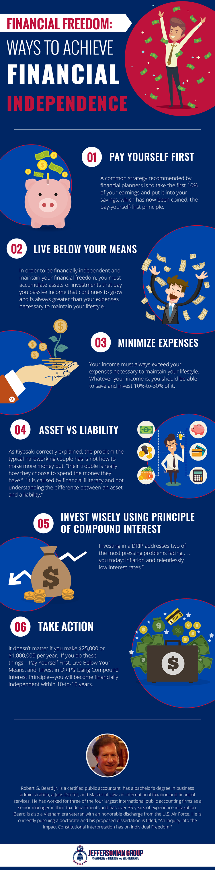 Financial Freedom: Ways To Achieve Financial Independence [Infographic]