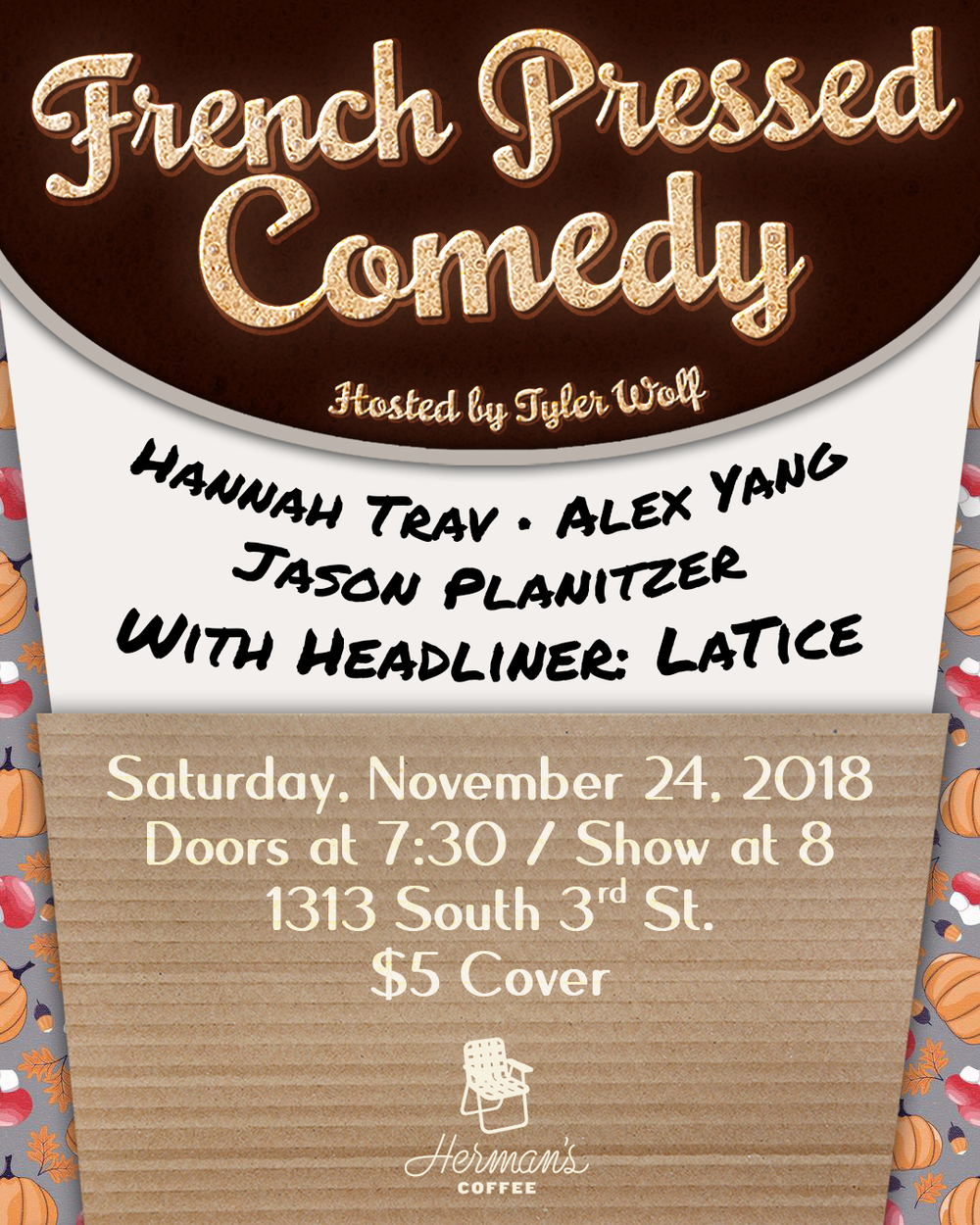 french pressed comedy poster nov24.png