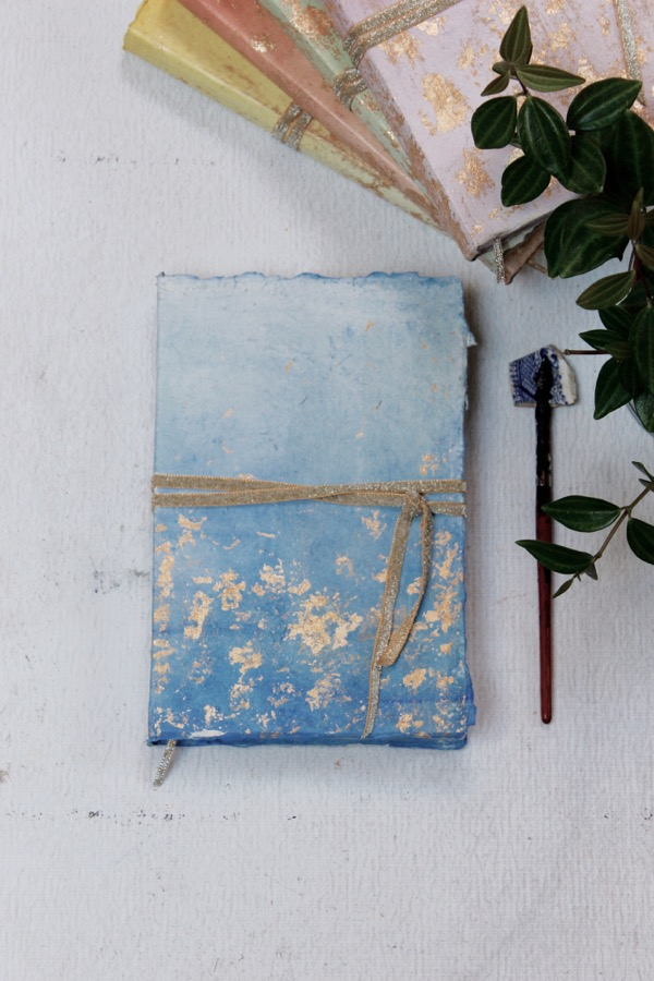 sky blue pastel wedding guest book