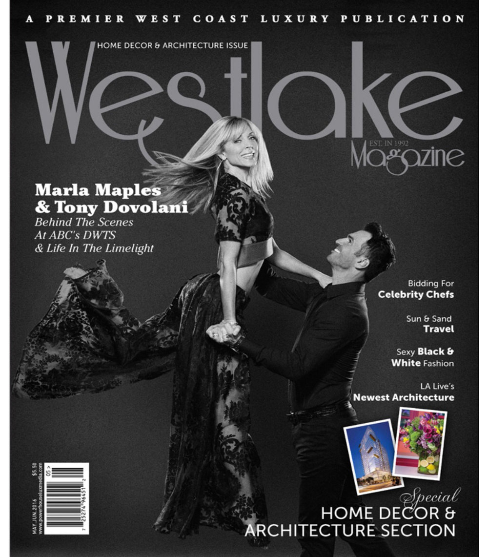 May/June '16 Westlake Magazine Cover with Tony Dovolani