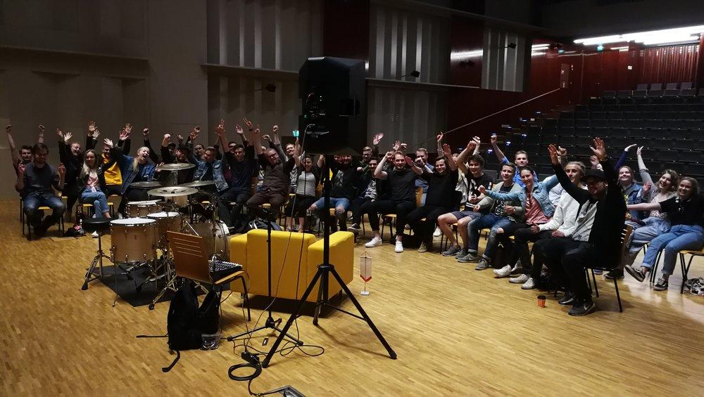 Social Media & Music Career seminar in Jakobstad, Finland, 2018.