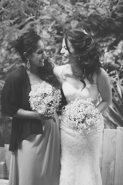 Bride and Bridesmaid Portrait