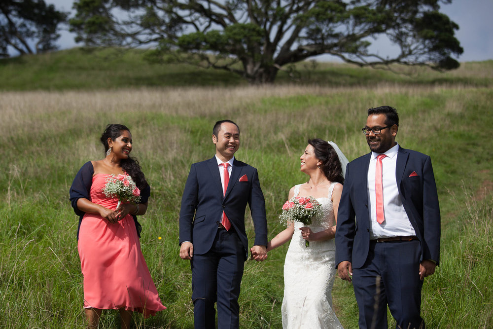 Bridal Party Laughing