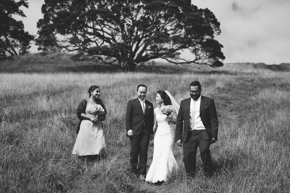 Bridal Party Black and White