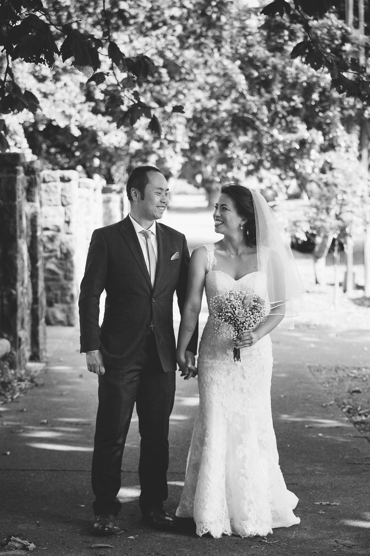 Bride and Groom in street