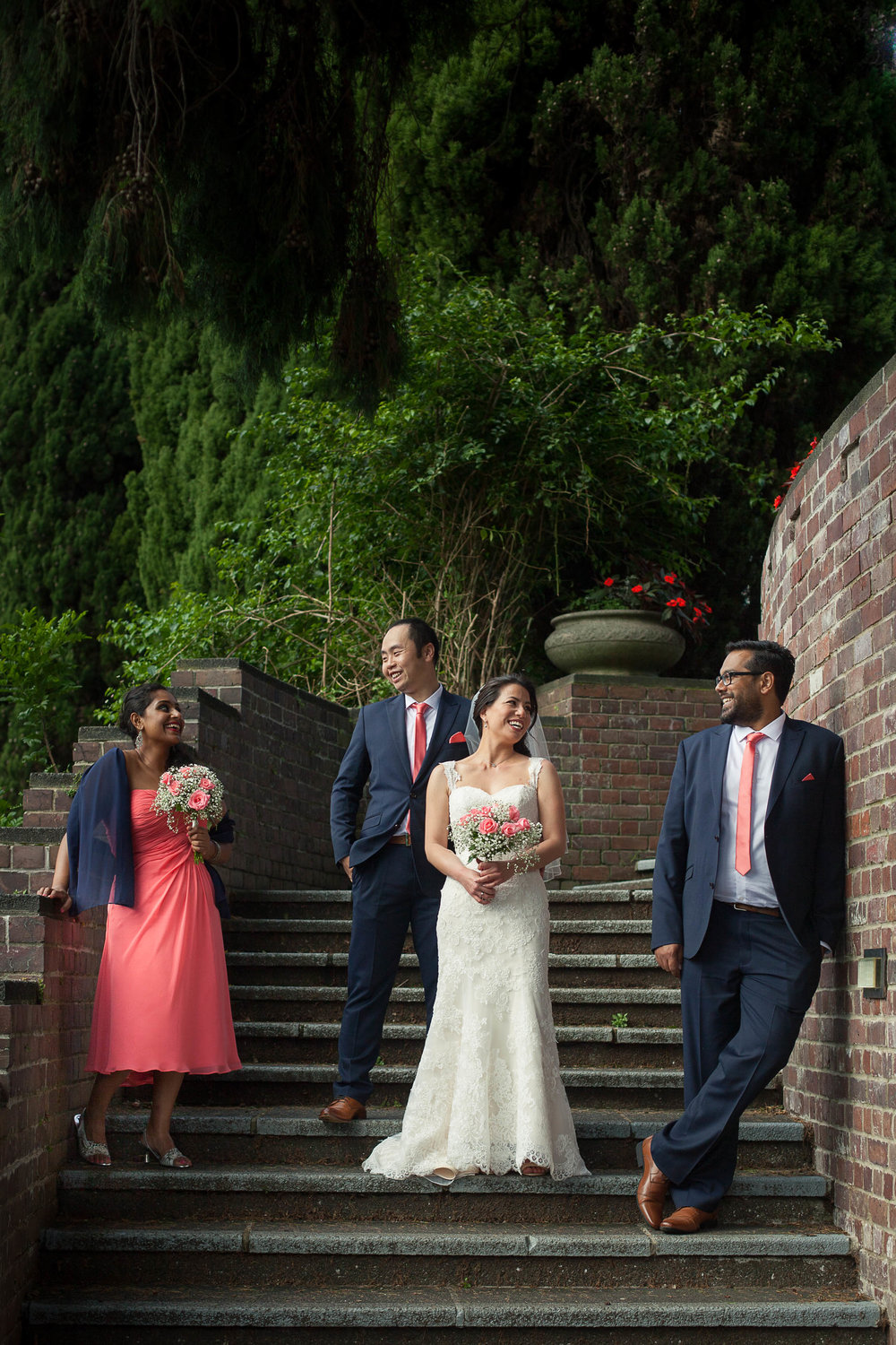 Bridal Party on steps