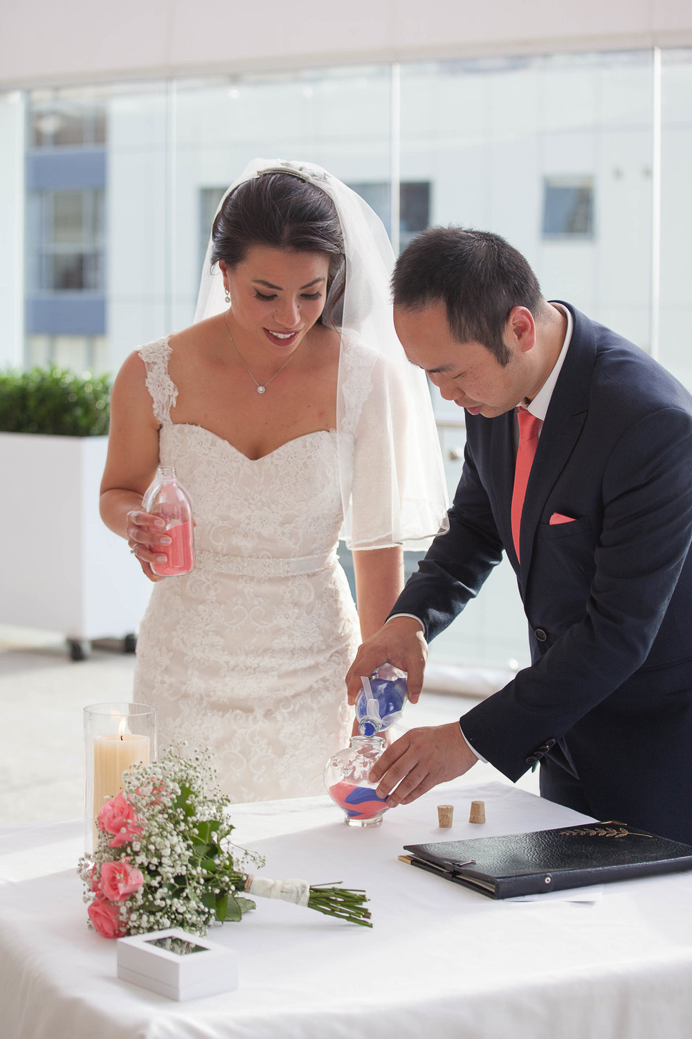 Bride and Groom sand ceremony