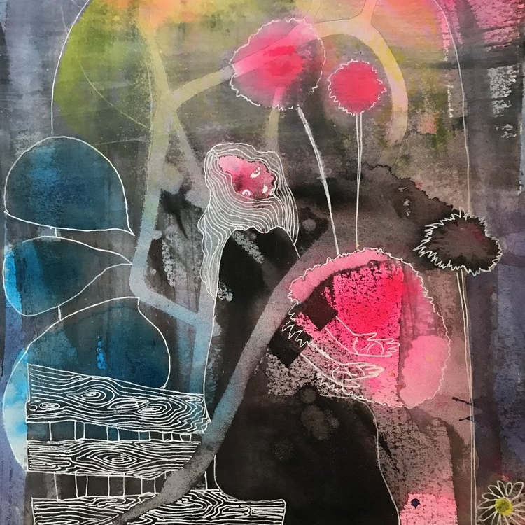 Mixed Media on Paper -