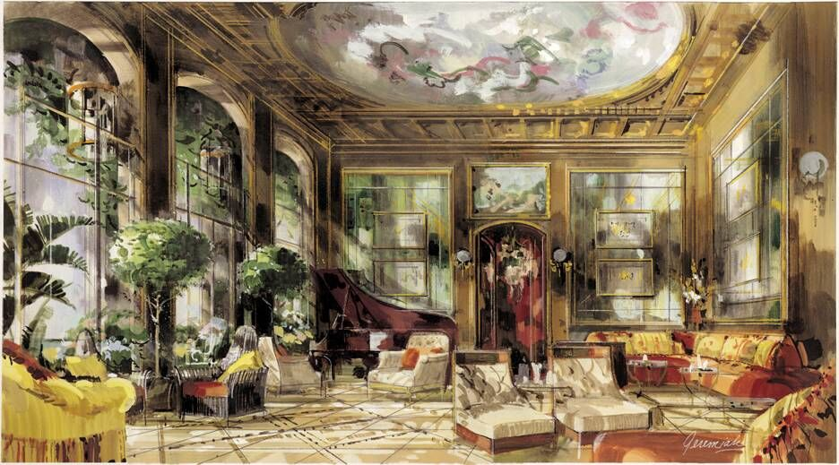 Jerimiah Goodman's Rendering of the Salon