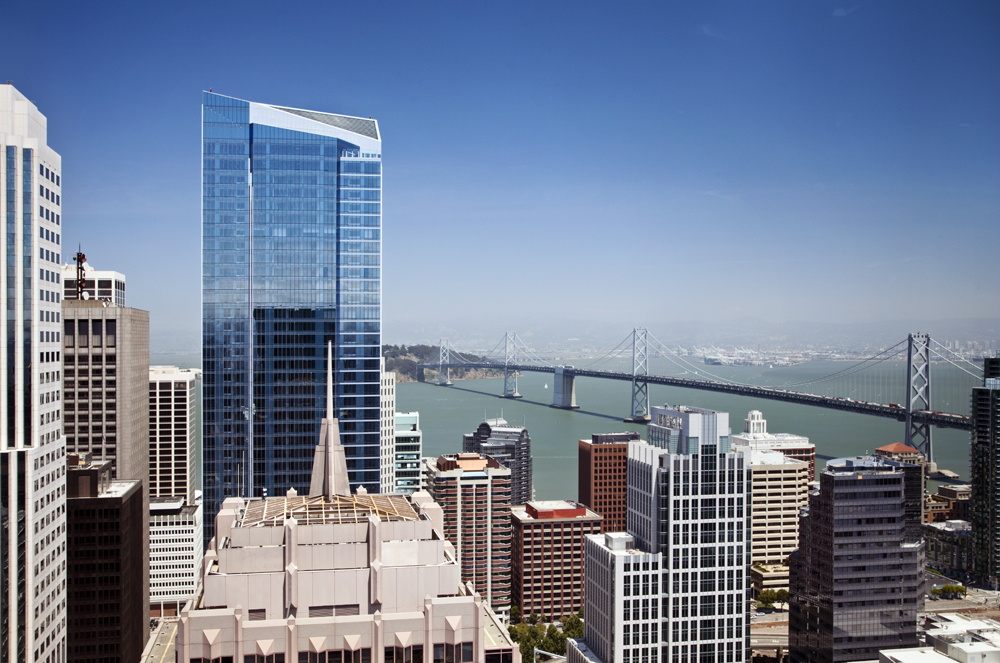 Millennium tower and the san franciso-oakland bay bridge